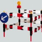 Vallas Peatonales - Bloqueo de pozos plegable y extensible