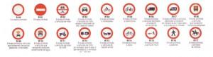 Señales de tráfico: Señales de Prohibición de Entrada